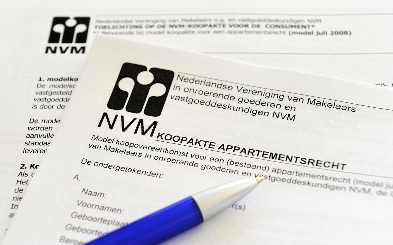 Een koopakte van NVM.