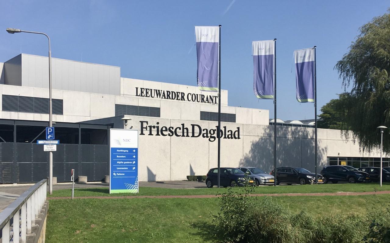 Bedrijfsgebouwen van de NDC Mediagroep in Leeuwarden.
