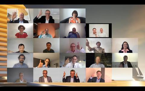 De genomineerden voor de  European Inventor Award van het Europees Octrooibureau (EOB). Jan van der Tempel uit Warten staat helemaal rechts in de onderste rij.