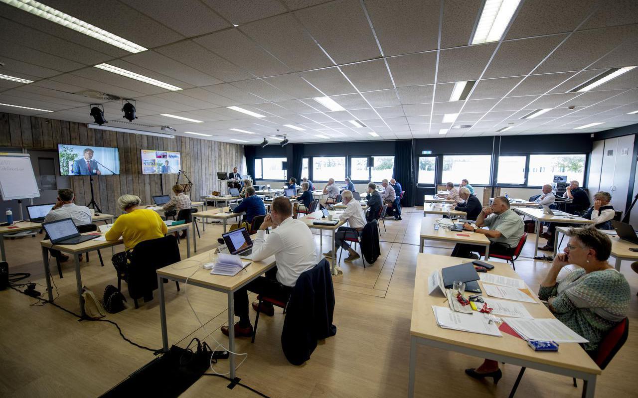 De synode van de Protestantse Kerk, in juni 2020, in de Fabriek in Leeuwarden.