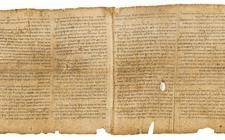Fragment van de grote Jesajarol. De zeven meter lange rol is geschreven door twee auteurs.