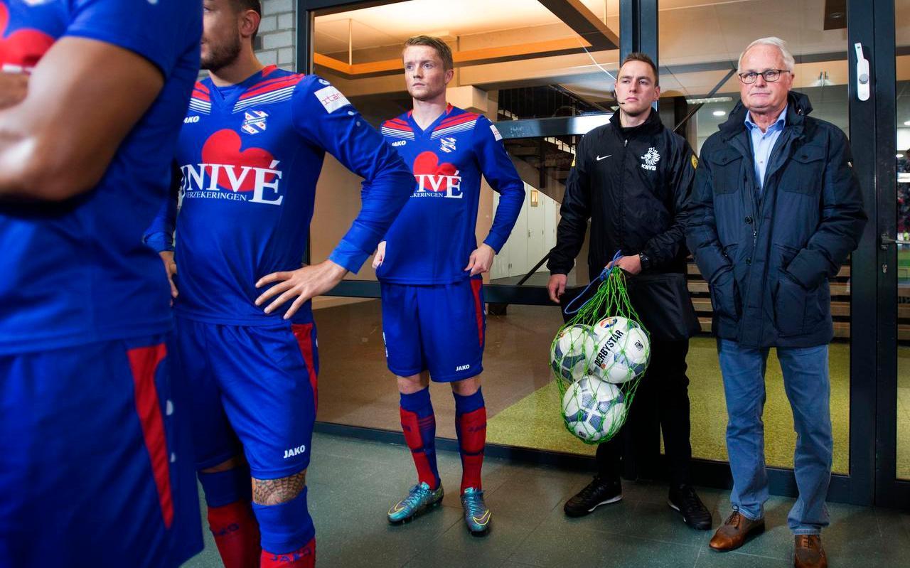 Foppe de Haan als trainer van sc Heerenveen in 2015.
