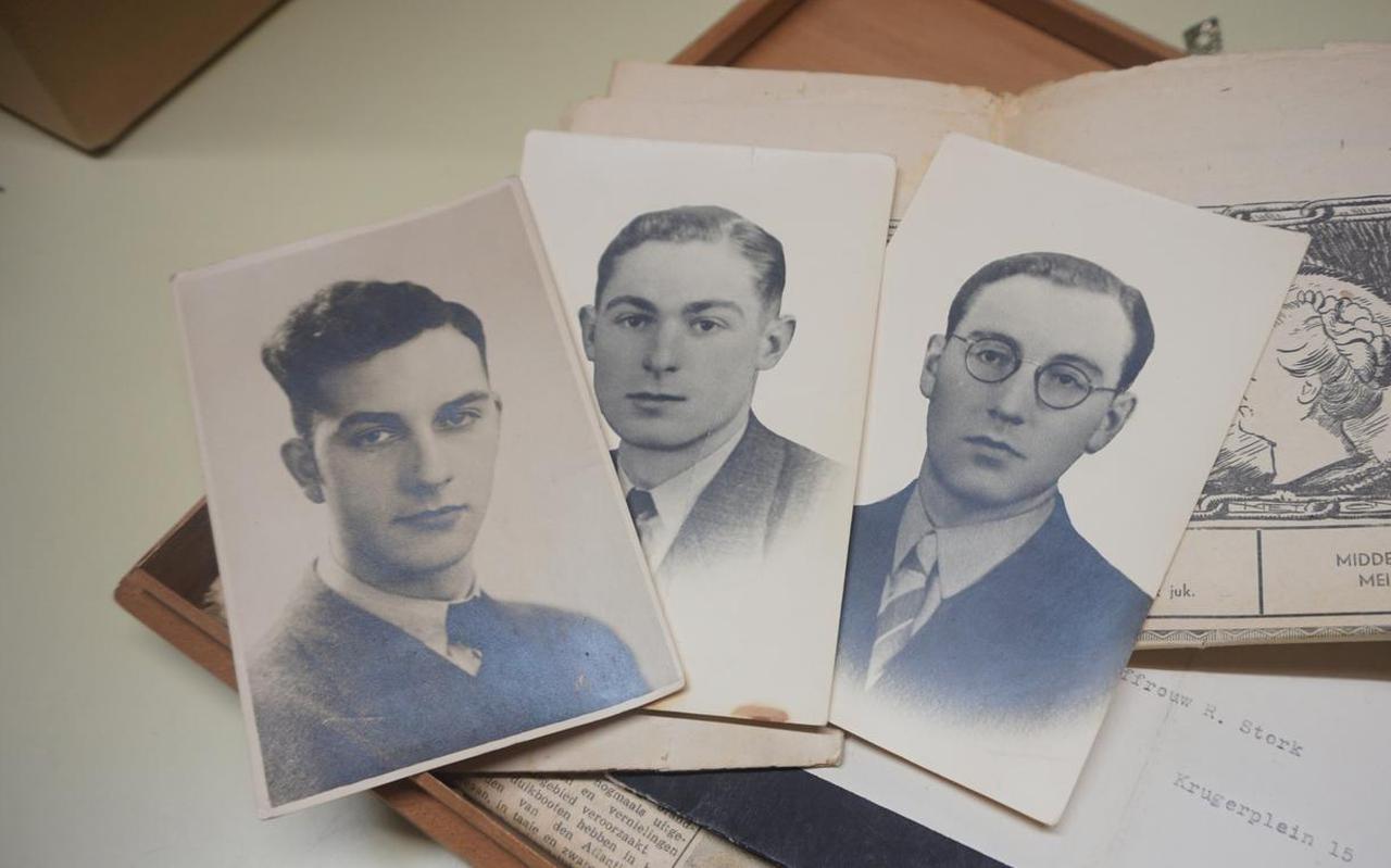 Van deze drie leden van de verzetsgroep van Sexbierum (v.l.n.r. Lolle Rondaan, Gerben Oswald en Gerrit Schuil) heeft Tresoar afscheidsbrieven in het bezit.