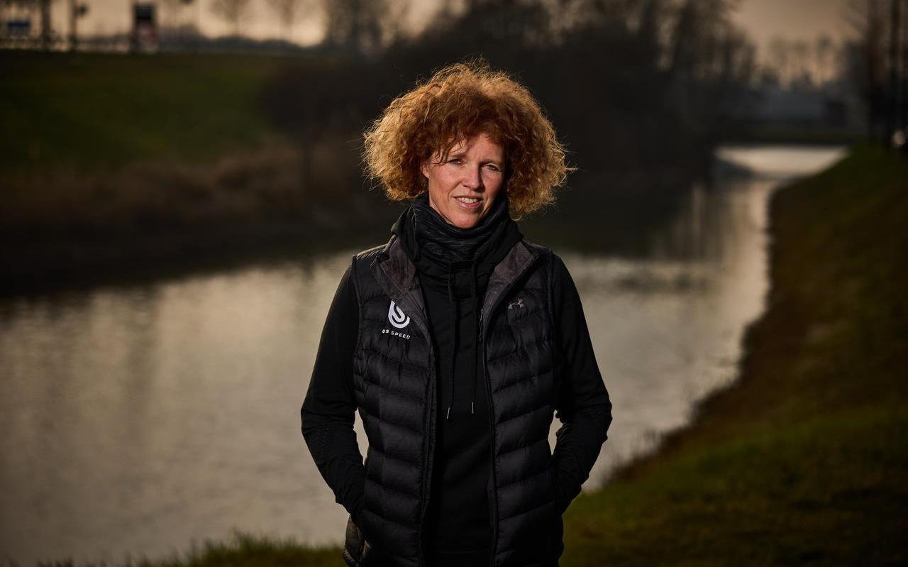 Wilma Boomstra, coach van het Amerikaanse shorttrackteam.