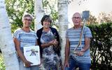 Het bestuur van de werkgroep Bosk en Iepen Fjild. Vanaf links: Ankie Keizer, Maria Brukx en Meindert Keizer. Jelmar Lautenbach, het vierde bestuurslid, ontbreekt op de toto.
