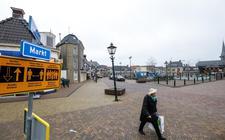 De Markt in Lemmer, eerder dit jaar was dit nog het Burgemeester Krijgerplein.
