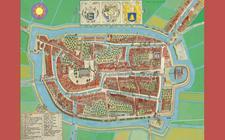De plattegrond van historisch Franeker. Foto: Marcus Laman