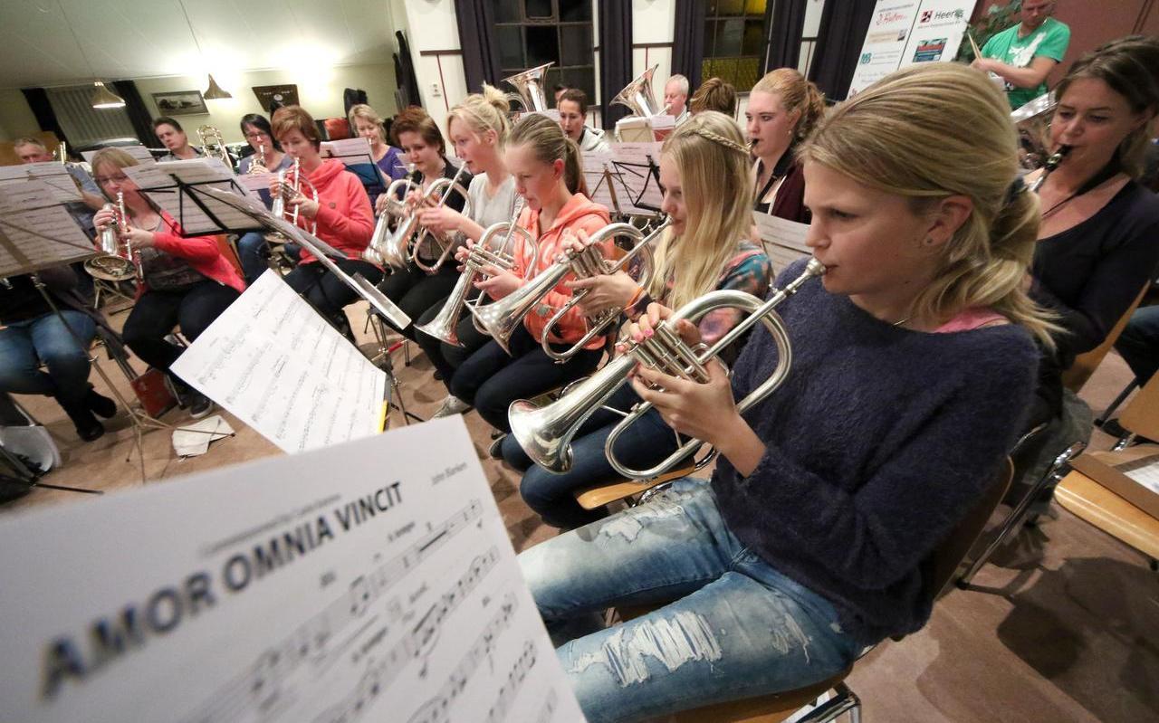 Muziekverenigingen, zoals de fanfare Hâld moed uit Abbega op deze archieffoto, zitten in de problemen door de lockdown.