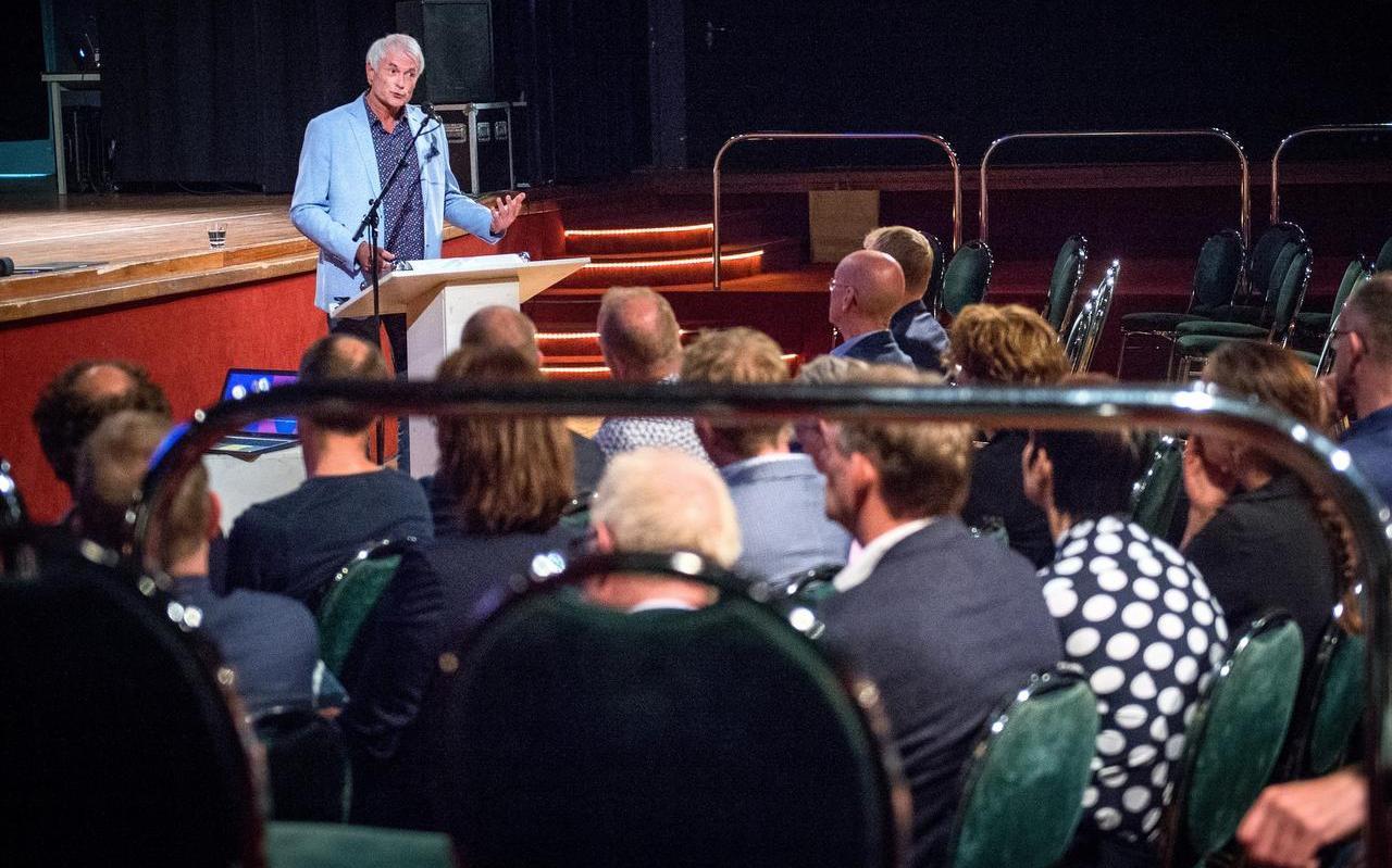 Greidanus sprak gisteren op een jubileumbijeenkomst in Earnewâld.  Foto: Jilmer Postma