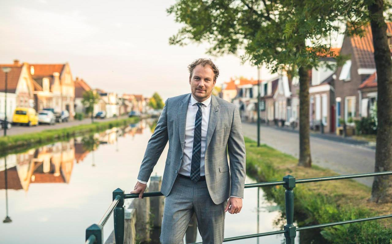Romke de Jong, vlak voor de verkiezingen. Hij werd gisteren namens D66 in de Tweede Kamer gekozen.