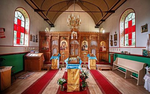 Interieur van het Russisch-orthodox Klooster in Hemelum. Foto: Niels de Vries