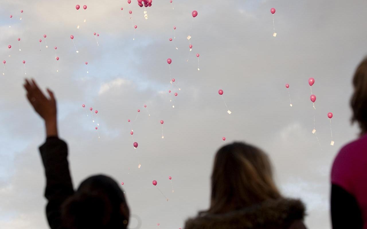Het is een mooi gezicht als de ballonnen de lucht ingaan, maar eenmaal weer op de grond brengen ze schade toe aan de natuur.