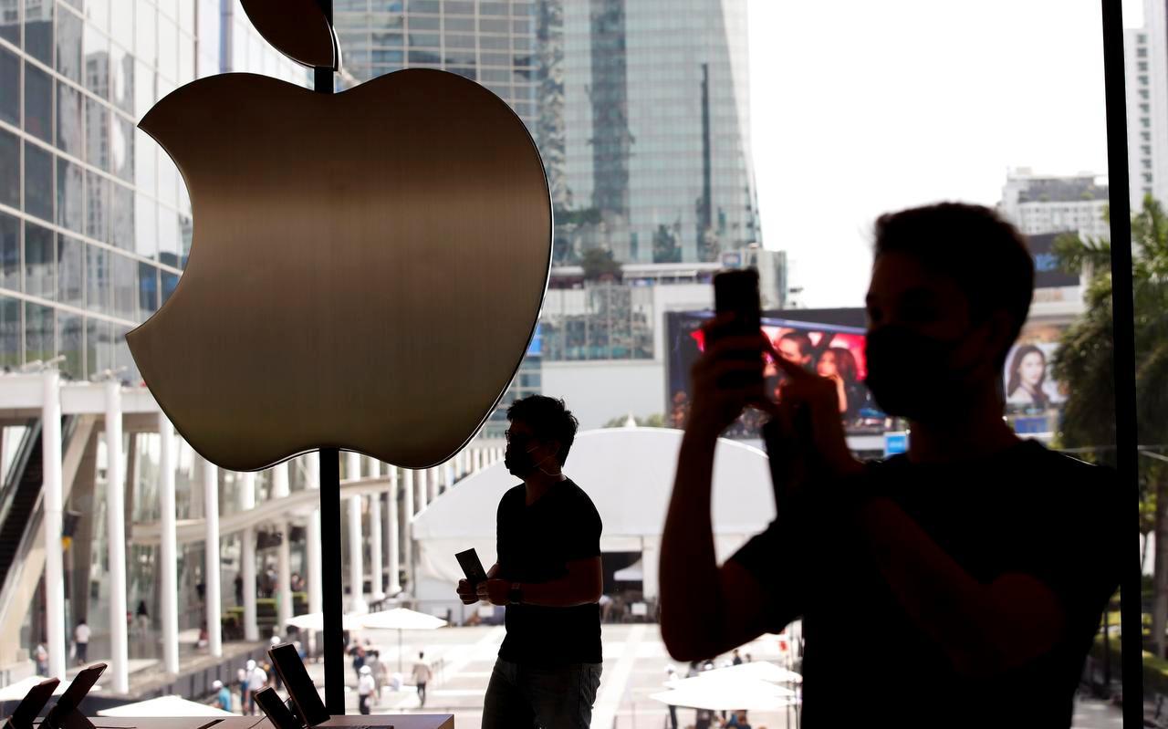De beurswaarde van het Amerikaanse bedrijf Apple steeg vorige week door naar 1765 miljard dollar.