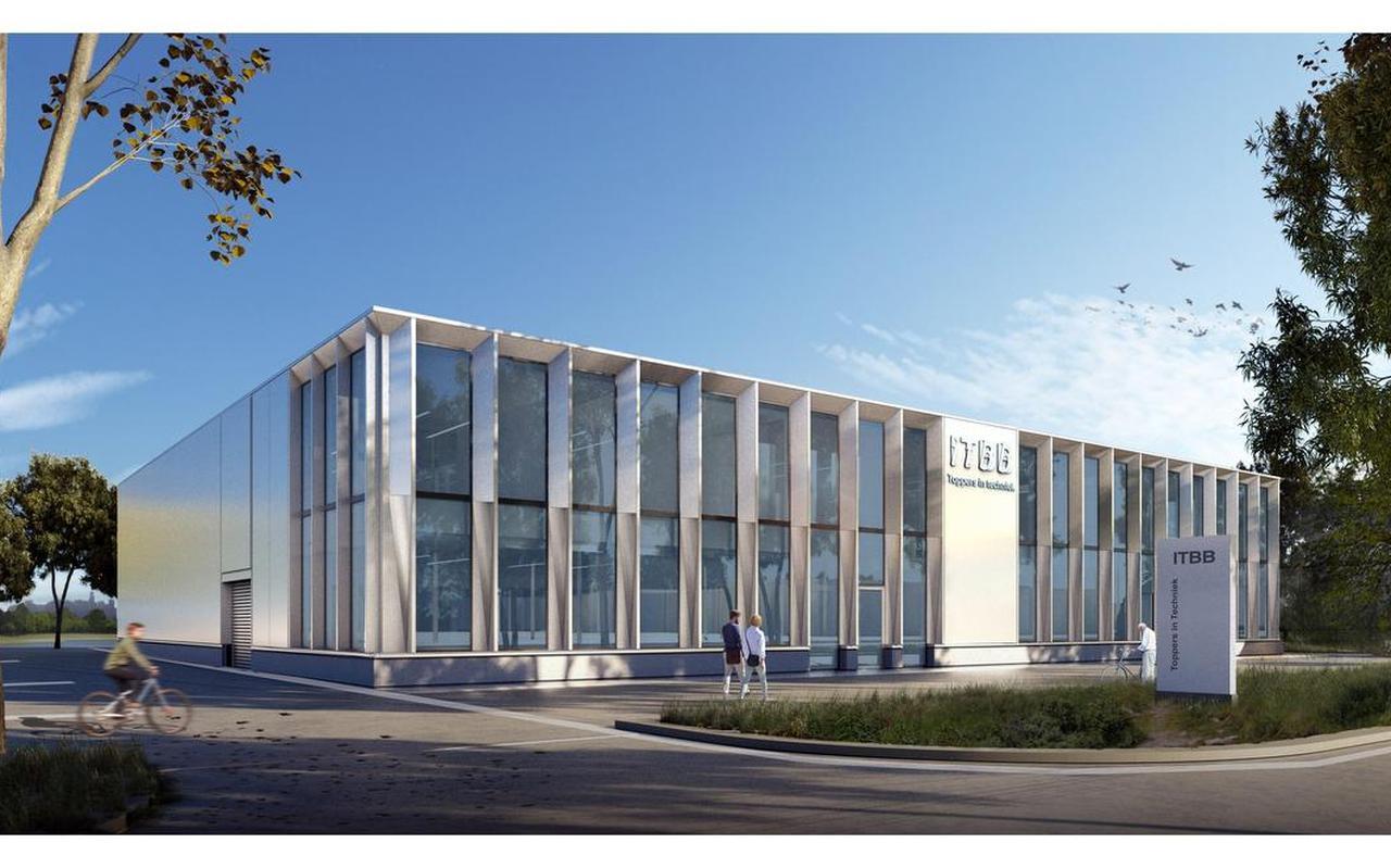 Een artist impression van de nieuwe productielocatie van ITBB in Zwolle.