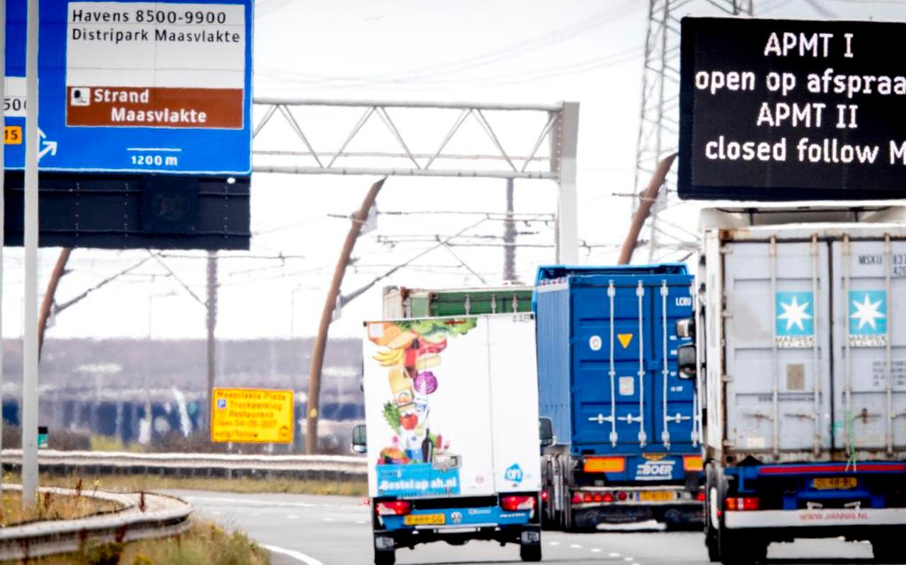 Een van de bekendste voorbeelden van ransomware in Nederland, de hack bij havenbedrijf APM in 2017. De containerterminal lag dagenlang stil. Foto: ANP