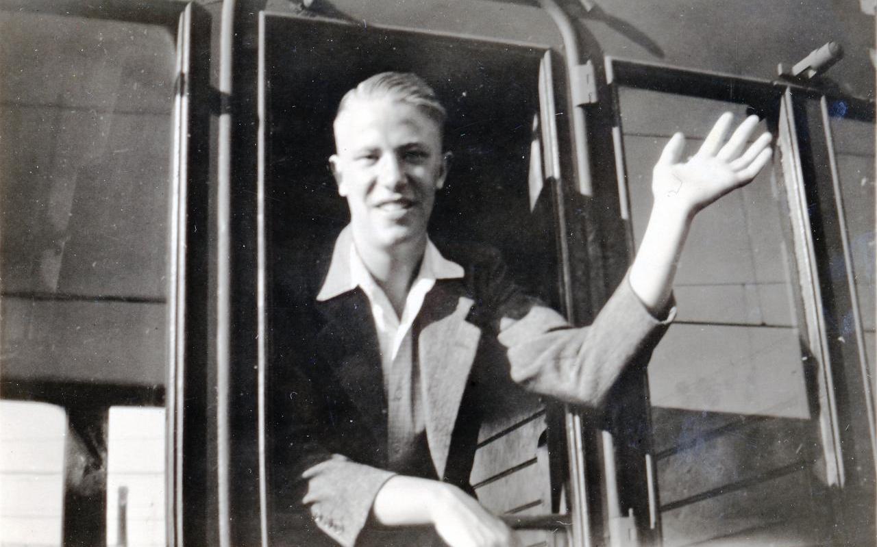 Adri Meindersma in de zomer van 1947.