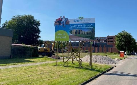 Nieuwbouw in opdracht van WoonFriesland aan de Kupersstrjitte in Burgum.