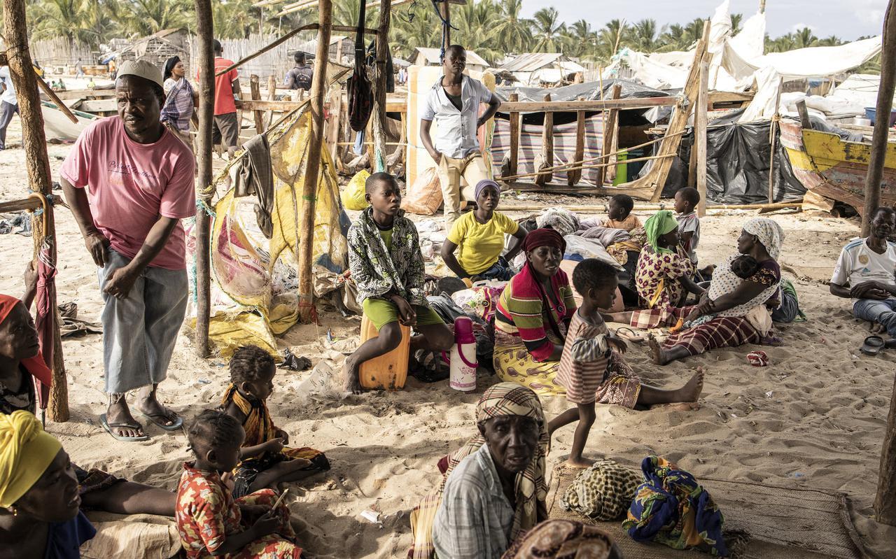 Vluchtelingen uit het noorden van Mozambique.