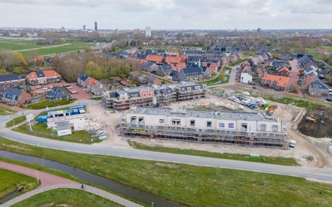 De bouw van Jabikshof in Leeuwarden