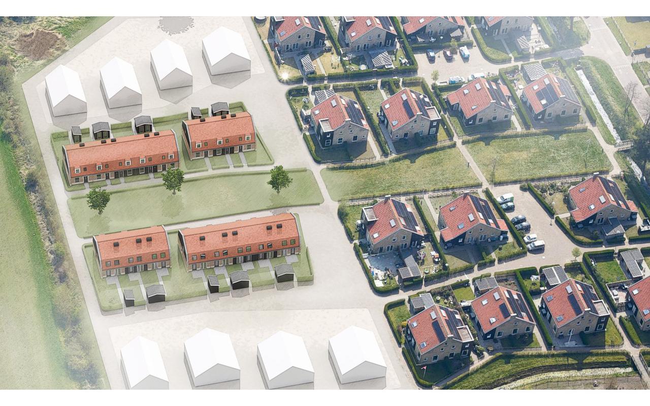 Een impressie van de nieuwe sociale huurwoningen.
