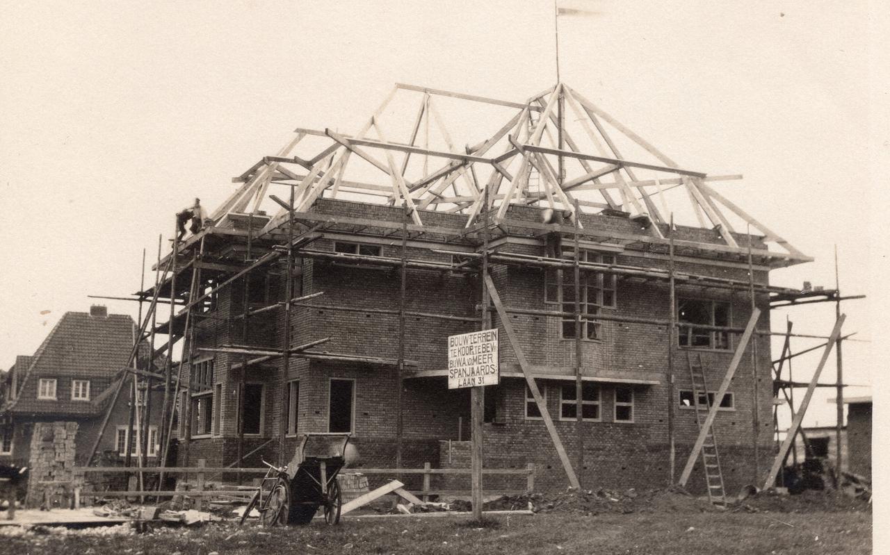 Villa Sonnehoeck in aanbouw.