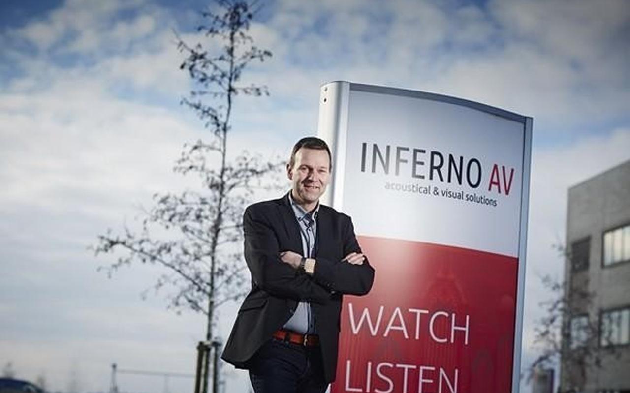 Directeur Jelle Heeringa van PRO AV uit Sneek, voorheen Inferno Audio Visueel