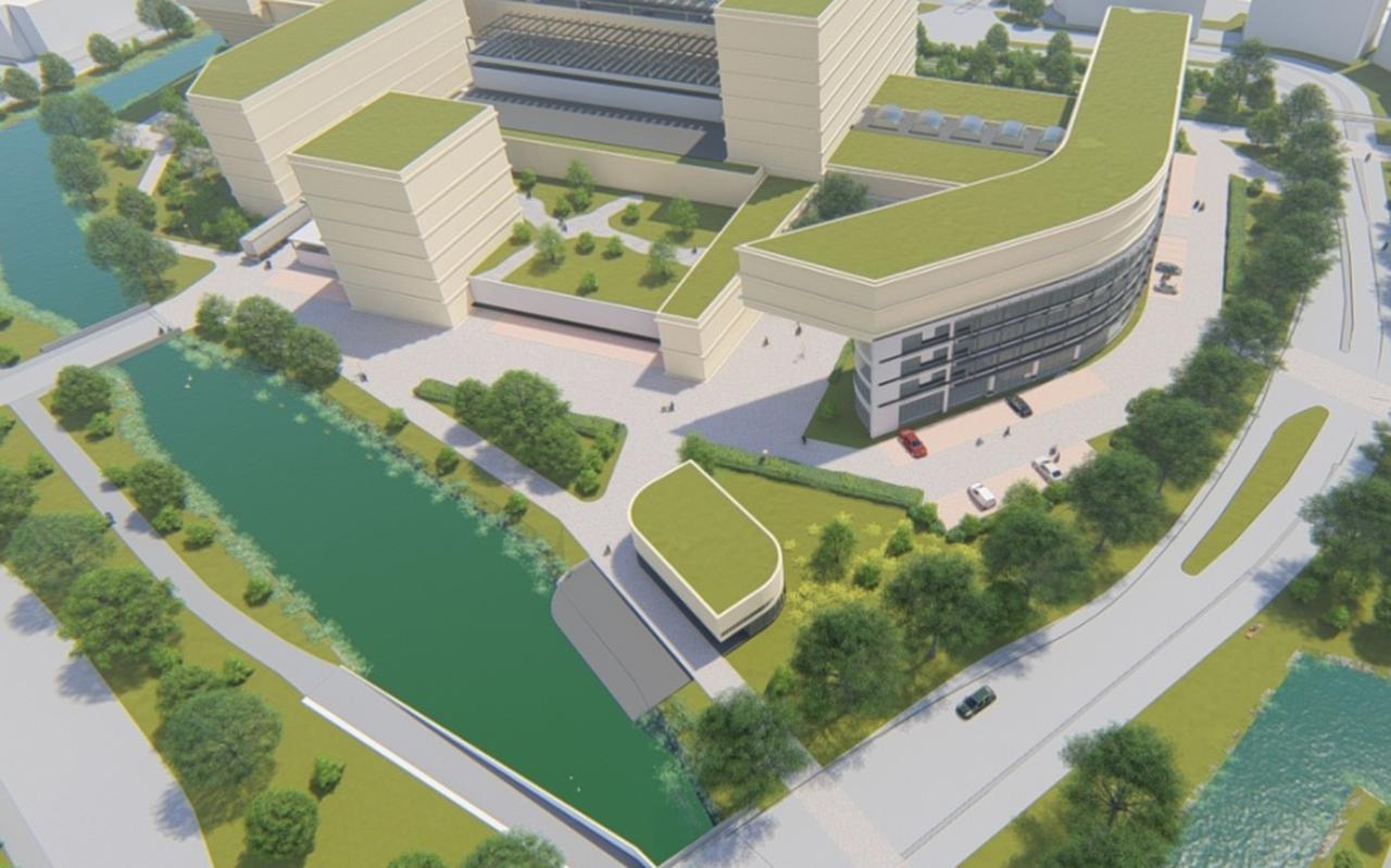 Impressie van de toekomstplannen voor het NDC gebouw waar Mica in gehuisvest wordt.