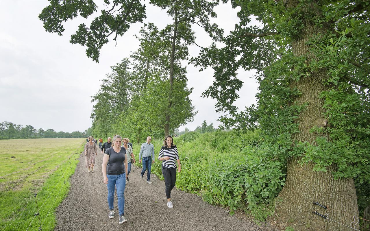 Zaterdag werd het nieuwe wandelpad bij Drachtstercompagnie geopend.