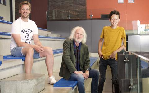 Michael de Roos, Jan Arendz en Jesper Minkes, acteurs van De Wettertoer.