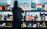 Het Nederlands-Vlaams paviljoen op de Frankfurter Buchmesse. Festival Herberch Frisia wil onder meer een soort miniversie van de Duitse boekenbeurs in Fryslân opzetten, speciaal voor kleine Europese talen.