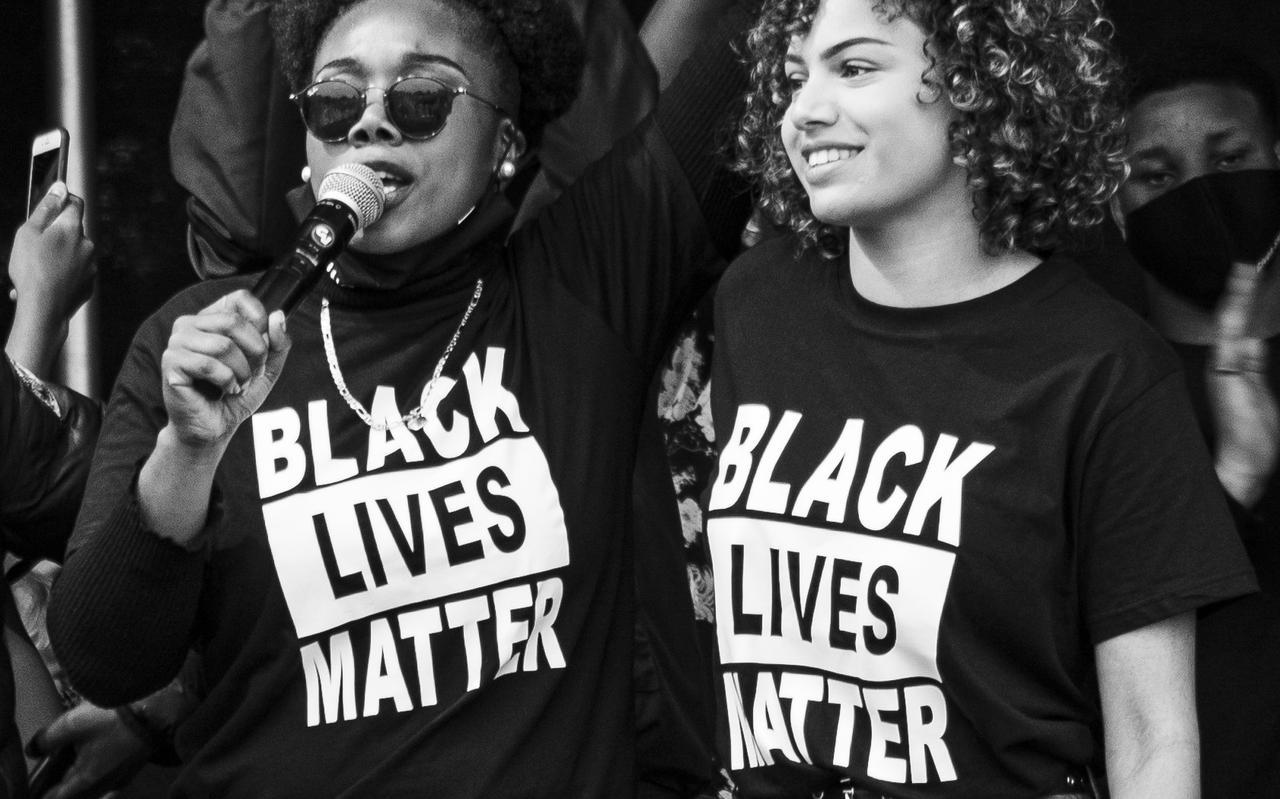 Black Lives Matter-betoging in Leeuwarden.