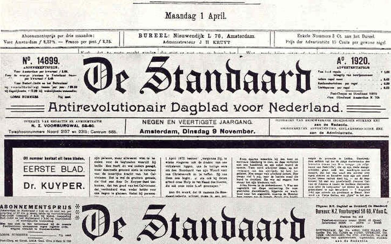 De Standaard, de krant die Abraham Kuyper oprichtte.