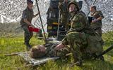 Militairen bij een eerdere oefening in de Marnewaard.