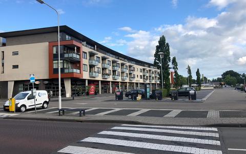 Het tram- en later busstation van Drachten maakte plaats voor winkelcentrum Noorderpoort