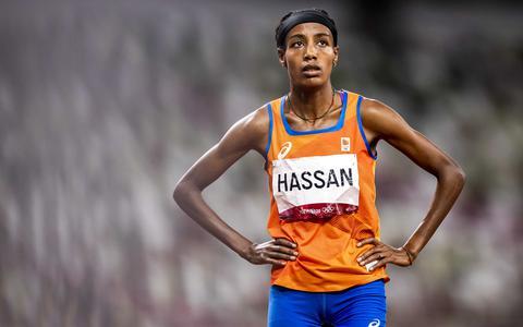 Sifan Hassan tijdens de halve finale van de 1500 meter, eerder deze week.