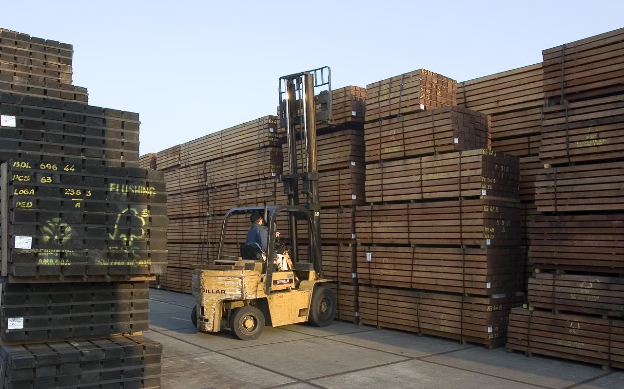 Opslag voor FSC-hout.