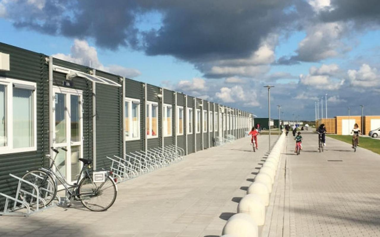 Het asielzoekerscentrum in Balk.
