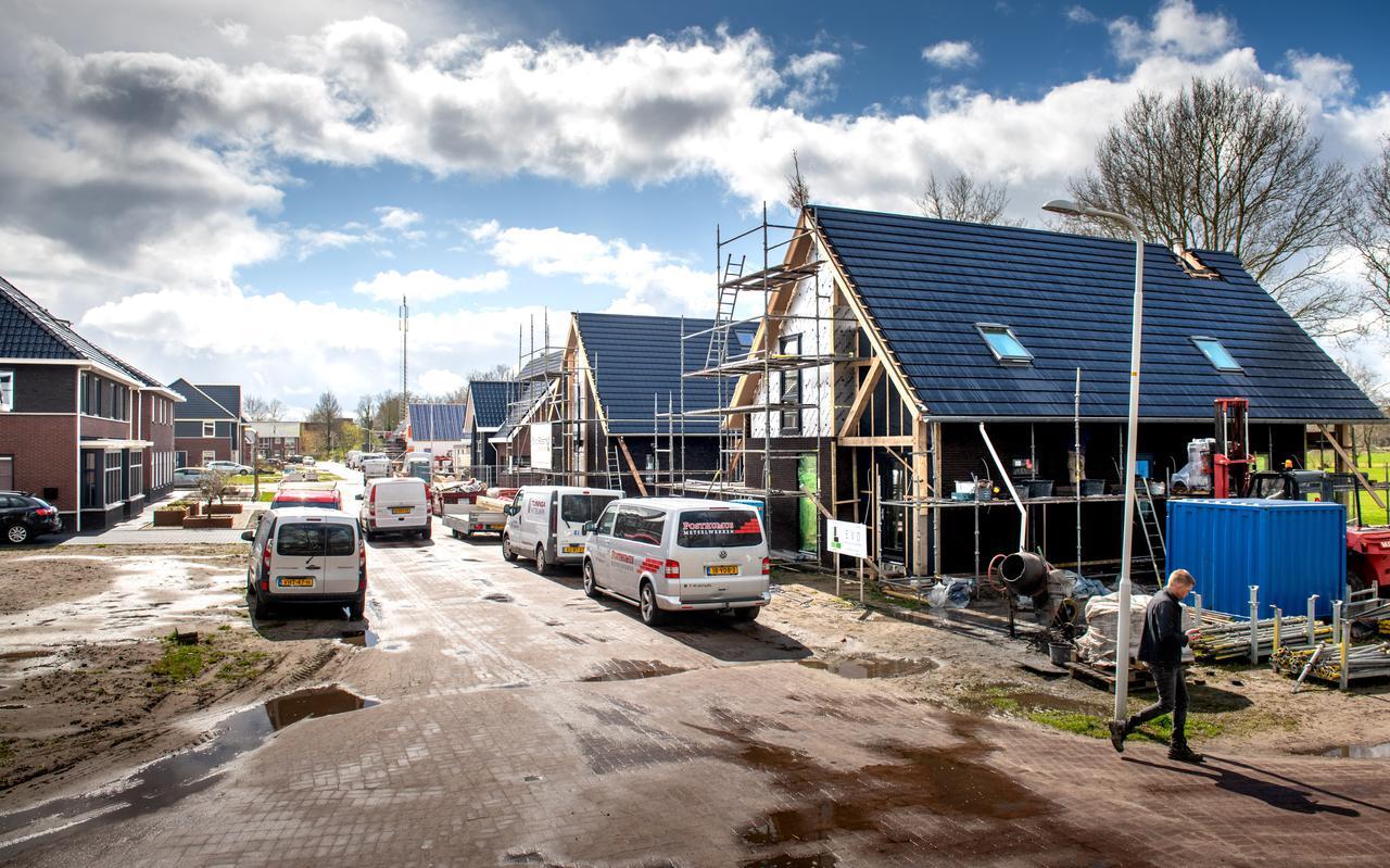 Huizenbouw in Ureterp.