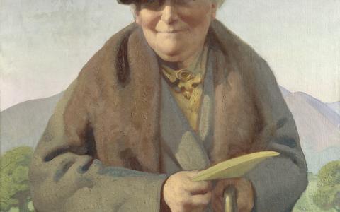 Het Fries Museum pakt uit met een expositie van 88 portretten, merendeels uit The Portriat Gallery. Met onder meer een portret van schrijfster Beatrix Potter, door Delmar Banner in 1938. © National Portrait Gallery, Londen.