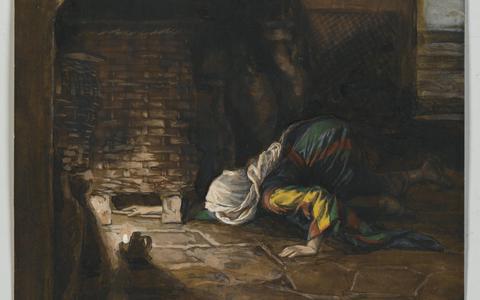In het verhaal over de vrouw die één drachme kwijtraakte en net zo lang zocht tot ze het verloren muntstukje weer terugvond ligt het accent op het verlorene dat terug gevonden wordt.Schilderij: La drachme perdue, door James Tissot.