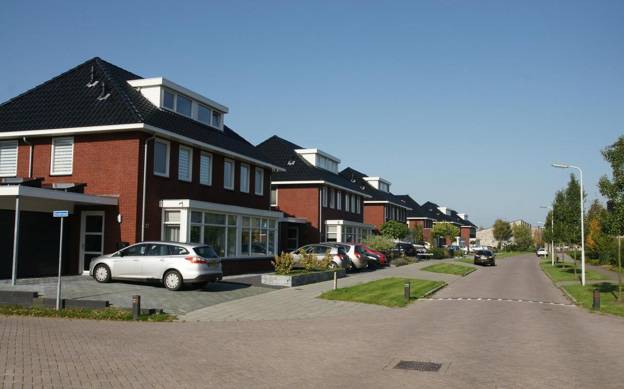 Woningen aan de Einekroes in Burgum.