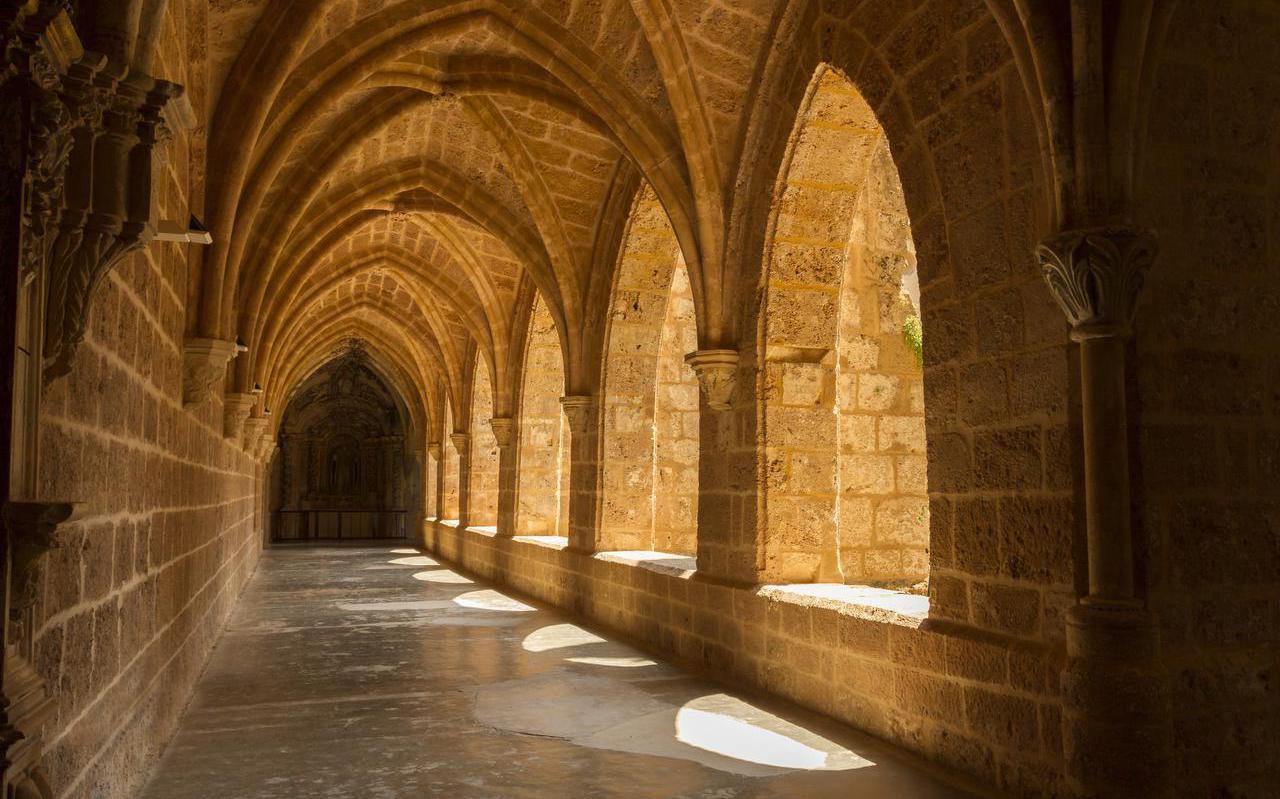 De abdij van Claercamp, ook wel gespeld als Klaarkamp, werd in 1163 gesticht. De afbeelding is een impressie.