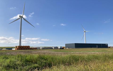 Het terrein van de toekomstige bio-LNG-centrale in de Nieuwe Industriehaven in Harlingen.