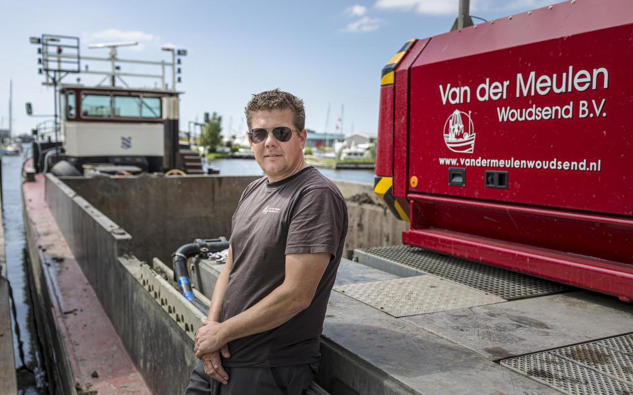 Klaas van der Meulen, schipper van het SKS-skûtsje van Woudsend, de enige winnaar van een SKS-wedstrijd in 2021.
