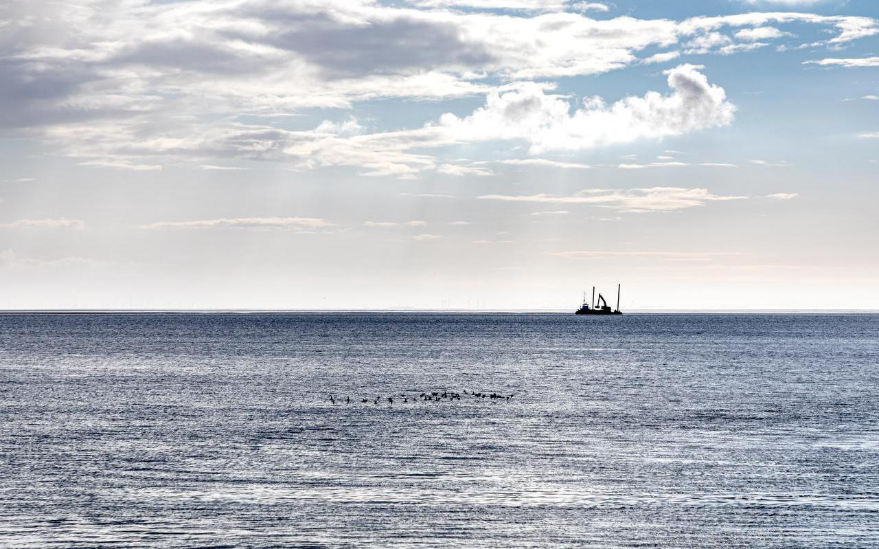 Uitzicht op de Duitse Waddenzee vanaf het eiland Borkum.