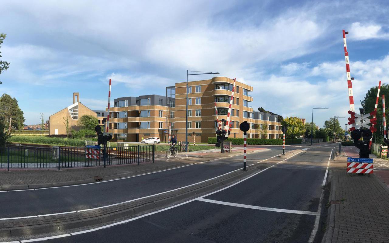 Het ontwerp voor 45 huurappartementen aan de Kimswerderweg in Harlingen.