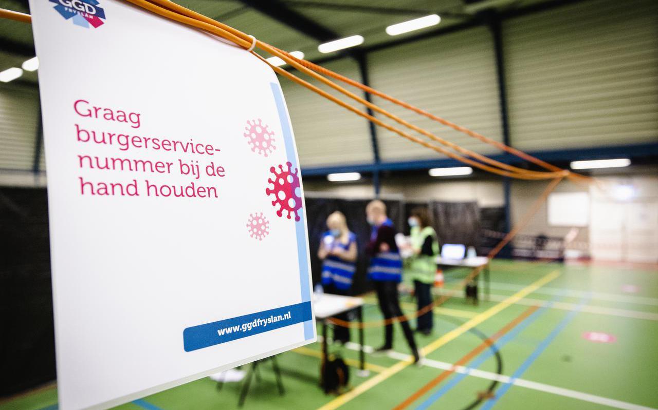 Een vaccinatielocatie van GGD Fryslân.