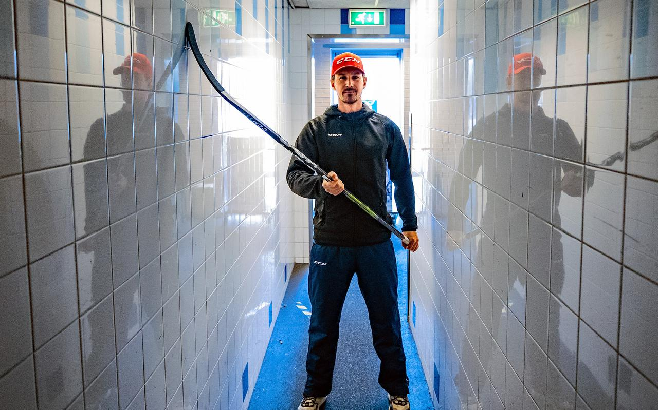 Pippo Limnell Finocchiaro van UNIS Flyers is na een corona-break van anderhalf jaar weer hongerig naar de puck.