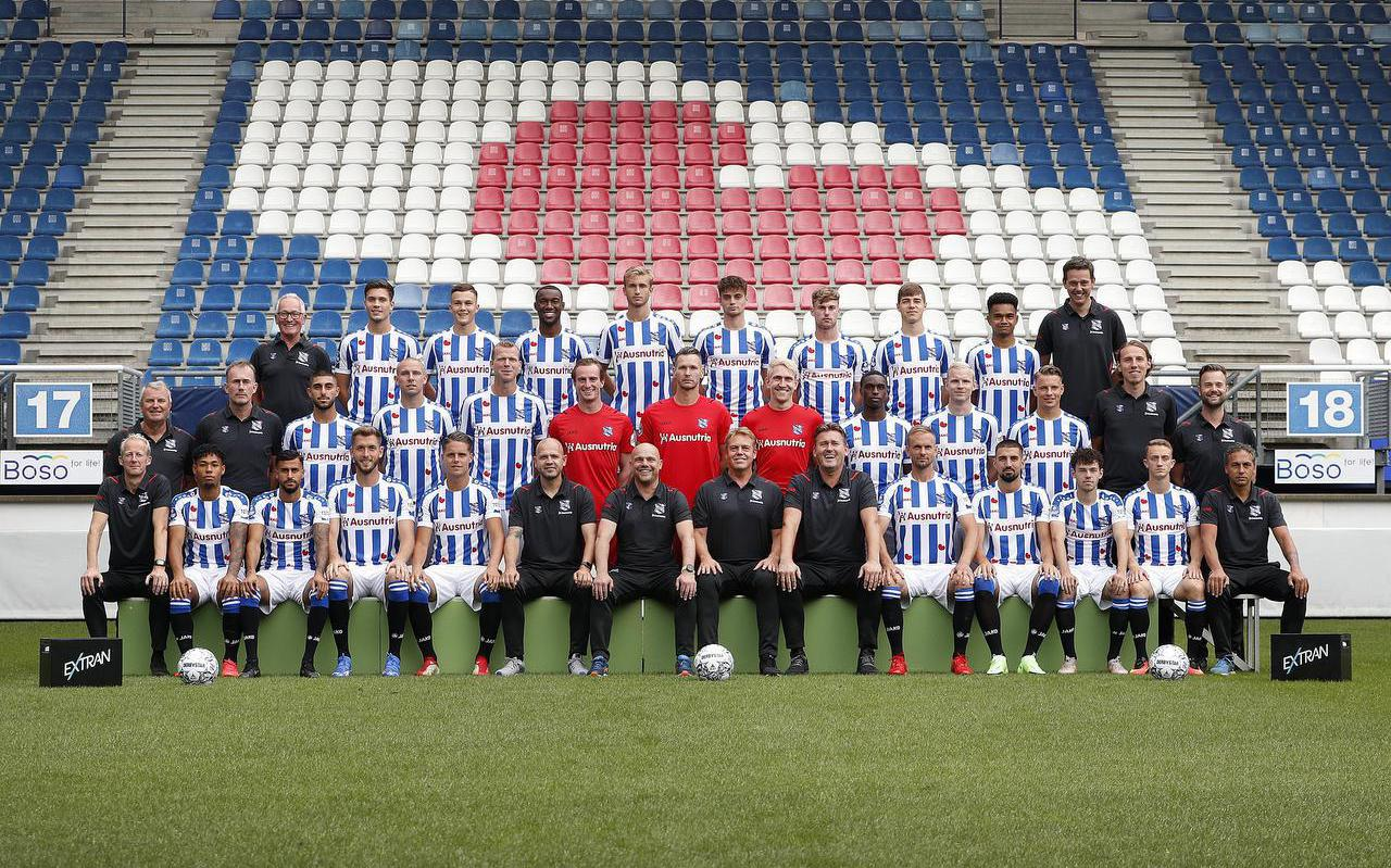 De selectie van sc Heerenveen voor het seizoen 2021-2022, zoals die er op 27 juli uitzag.